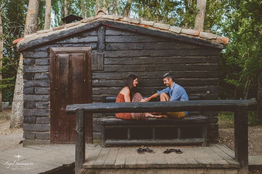 Sesión de Preboda de Irene & Jorge en el Bosque de Finlandia | Fotógrafo de bodas en Madrid
